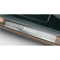 Комплект накладок на пороги с именем модели LADA Xray