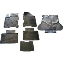 Ковры в салон литьевые + Поддон в багажник с фартуком Lada Vesta 2015